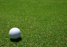 Golf ball in the green Stock Photo