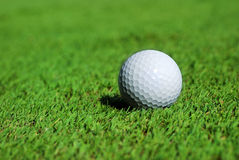 Golf ball on the green Stock Photos