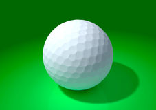 Golf ball in the green background Royalty Free Stock Photography