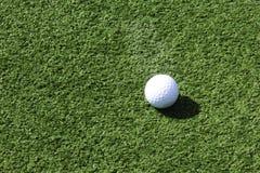 Golf ball on green Royalty Free Stock Photo