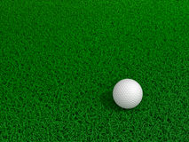 Golf ball on green grass. With shadow royalty free illustration
