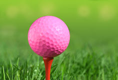 Golf ball on a green grass Stock Photography