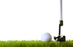 Golf ball on green grass Stock Photography