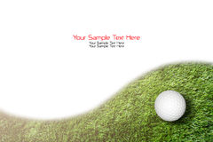 Golf ball on green grass background Stock Photo