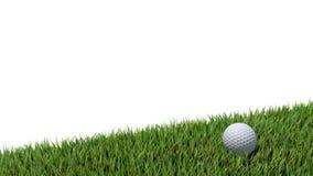 Golf ball on green 02 Stock Photos