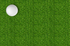 Golf ball on the green grass of the golf Royalty Free Stock Photography