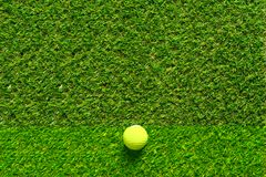 Golf ball on green grass texture of golf course for background. royalty free stock images