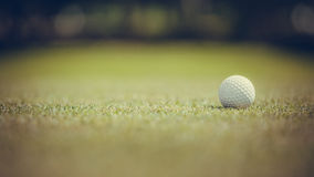 Golf ball on the green Stock Photography