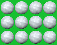 Golf ball group Royalty Free Stock Images