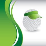 Golf ball head with visor template