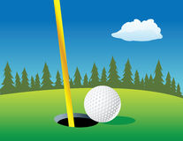 Golf ball hole Royalty Free Stock Photography