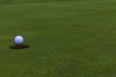 Golf Ball Hole Green  Royalty Free Stock Photo