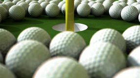 Golf Ball Hole Assault Stock Image