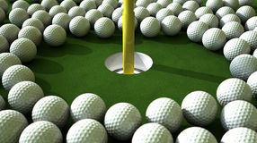 Golf Ball Hole Assault Royalty Free Stock Photography