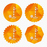Golf ball and hole sign icon. Sport symbol. Royalty Free Stock Photo
