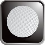 Golf ball icon. Computer icon of a golf ball Royalty Free Stock Images