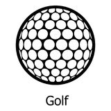 Golf ball icon, simple black style Stock Images