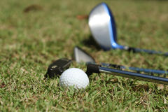 Golf Ball and Irons Stock Photos