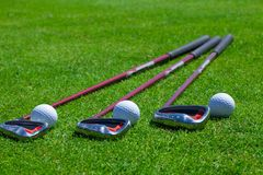Golf Ball and Irons Stock Image