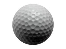 Golf Ball-Isolated. Macro shot of an isolated golf ball with the shadow in the correct position to composite this object on to a tee Stock Photos