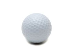 Golf ball isolated. On the white background Royalty Free Stock Photography