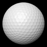 Golf ball isolated on black Royalty Free Stock Images
