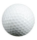 Golf ball. Isolated on white stock photo