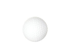 Golf ball isolated on white Stock Photography