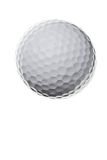 Golf ball isolated on white background Stock Photos
