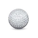 Golf ball isolated on white Royalty Free Stock Photo