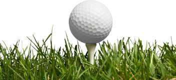 Golf Ball isolated on white background. Sport and royalty free stock images