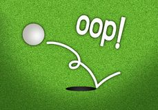 A Golf Ball Jumping Out of The Hole Royalty Free Stock Images