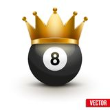 Golf ball with king crown Stock Photos