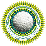 Golf ball label. Stock Photo