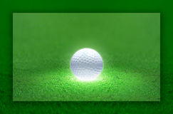 Golf Ball Light. Golf ball emitting light. the ball is the center of the attention Royalty Free Stock Photography