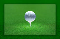 Golf Ball Light. Golf ball emitting light. the ball is the center of the attention Royalty Free Stock Photos