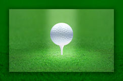 Golf Ball Light. Golf ball emitting light. the ball is the center of the attention Royalty Free Stock Images