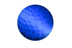 Golf-ball made of glass Stock Photos