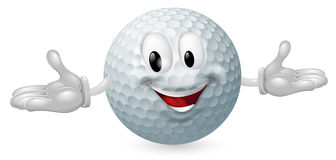 Golf Ball Mascot. Illustration of a cute happy golf ball mascot man Royalty Free Stock Image