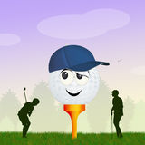 Golf ball in the meadow Stock Photos