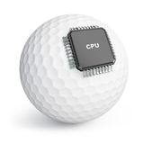 Golf ball microchip Stock Image