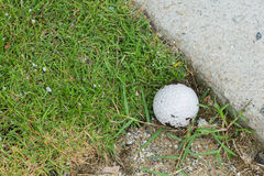 Golf ball near the cart path Stock Image