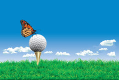 Golf Ball On A Tee Royalty Free Stock Photography