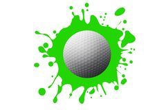 Free Golf Ball On Green Background. Stock Images - 159647574