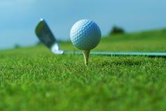 Golf Ball On Green Grass Stock Images