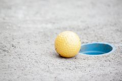 Golf next golf hole. royalty free stock image