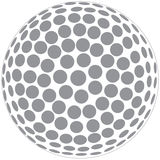 Golf ball outline. Illustration of a golfball outline isolated in white background Royalty Free Stock Images
