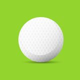 Golf ball over green background flat vector Royalty Free Stock Image