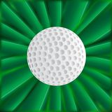 Golf Ball Over Green. A typical golfball over a green material background Stock Photos