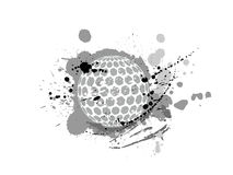 Golf ball with pattern vector design grunge illustration Royalty Free Stock Photo